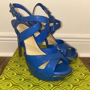 Blue Platform High Heels